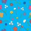 Royalty-Free Stock Vector Image: Blue Floral Seamless