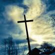 Cross over sky — Stock Photo