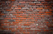 Red brick grundge wall — 图库照片