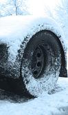 Winter reifen schnee leistung — Stockfoto