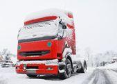 Snö lastbil — Stockfoto