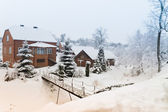 House in winter — Stock Photo