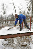 Winter working — Stock Photo