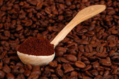A spoonful of coffee — Foto de Stock