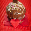 Valentine muffin — Stock Photo #8040345