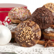 Christmas muffins — Stock Photo #8041263