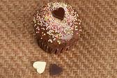 Muffin de san valentín — Foto de Stock