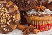 Kerstmis muffins — Stockfoto