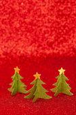 Golden Christmas tree — Stock Photo