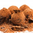 Chocolate truffles — Stock Photo