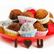 Stock Photo: Valentine truffles