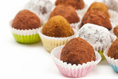 Chocolate truffles — Foto Stock