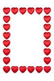 Valentine's hearts border — Fotografia Stock