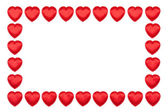 Valentine's hearts border — Stock Photo