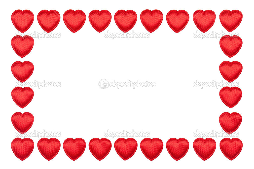 Valentine's hearts border — Stock Photo #8549516