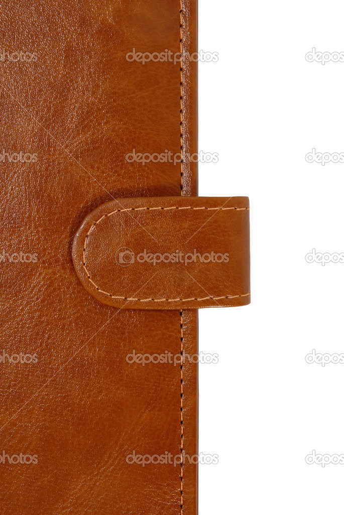 Brown leather cover of a personal organizer — Stock Photo #8739354