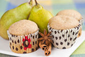 Pear muffins — Stock Photo