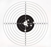 Paper target for shooting practice — Stock Photo