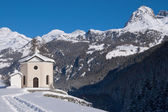 Chiesa nevoso — Foto Stock