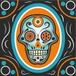 Sugar Skull Illustration - Stock Vector