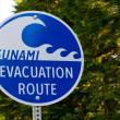 Tsunami Evacuation Route — Stock Photo #8611335