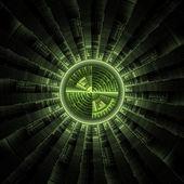 Tech sci-fi circle. — Stock Photo