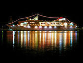 Cruise liner at night — Stock Photo