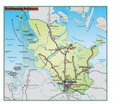 Schleswig-Holstein Umgebungskarte gruen — Stock Vector