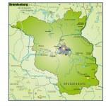 Brandenburg Umgebungskarte Uebersicht — Stock Vector #8050173