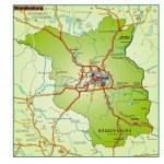 Brandenburg Umgebungskarte bunt — Stock Vector #8050183