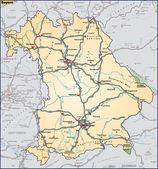 Bundesland Bayern Umgebungskarte orange — Stock Vector