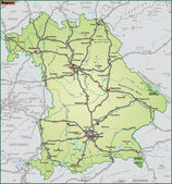 Bundesland Bayern Umgebungskarte gruen — Stock Vector