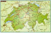 Schweiz_Umgebung_bunt — Stockvektor