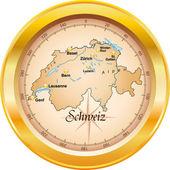 Schweiz_Kompass — Stockvektor