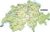 Schweiz_Insel_gruen — Stock Vector