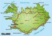 Islandia — Vector de stock