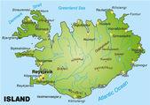アイスランド — ストックベクタ