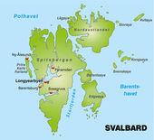 Svalbard / Spitzbergen — Stock Vector