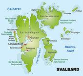 Svalbard / Spitzbergen — Vettoriale Stock