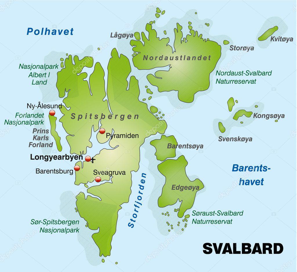Bildresultat för Karta Svalbard
