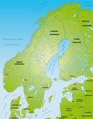 Skandinavien — Stock Vector