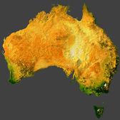 Australia w 3d-darstellung — Zdjęcie stockowe