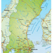 Stock Vector: Map of sweden