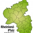 Stock Vector: Map of rhineland-palatinate