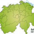 Map of swiss — Stock Vector #8633992