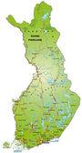 Karta över finland — Stockvektor