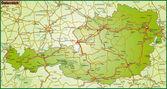 Map of austria — Stock Vector