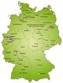 Karta över Tyskland — Stockvektor
