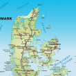 Map of denmark — Foto Stock #9074877