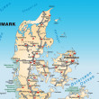 Stock Photo: Map of denmark